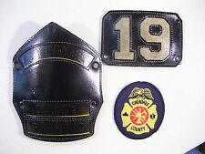 LOT OF 3 CHEROKEE COUNTY FIREMAN PATCHES LEATHER HELMET PATCH #19 FIREMEDIC