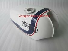 NORTON COMMANDO ROADSTER WHITE PAINTED GAS PETROL TANK (REPRODUCTION) @VINTAGE