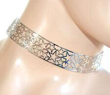 COLLANA collarino argento girocollo donna ragazza rigido stelle idea regalo F99