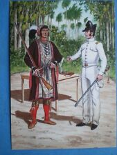 POSTCARD AMERICAN - INDIAN WARS - 2ND REGT OF US DRAGOONS 1837 OFFICER