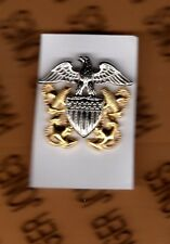 USN Navy Officer hat badge 1.25 inch clutchback cb