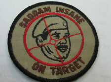 DESERT STORM COLLECTABLE RARE VINTAGE PATCH EMBROIDED 90'S MILITARY GET SADDAM