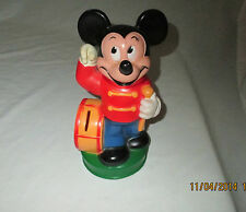 MICKEY MOUSE DRUM  MAJOR BANK, w/ MOVING HAND  by ANIMAL TOYS PLUS Disney Prod.