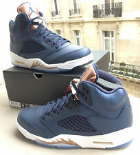 NIKE AIR JORDAN 5 RETRO Obsidian / Metal Bronze 9 US / 42,5 FR NEUVES Deadstock