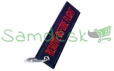 REMOVE BEFORE FLIGHT key chain aviation tag in Red on Black -US Seller-