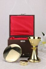 NEW  Mass Kit Sick Call Set Chalice Paten Pyx with Case for Church Mass BPT-3-XN