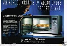 Publicité advertising 1992 (2 pages) Le Micro Ondes Whirlpool