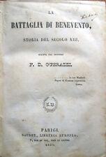 1835 GUERRAZZI, LA BATTAGLIA DI BENEVENTO – LETTERATURA ITALIANA ROMANZI STORICI