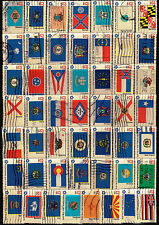 Scott #1633-82 Set of 50 Used Bicentennial State Flags