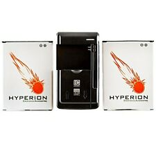 Hyperion Replacement (2x) 3000mAh Battery + FREE Charger for LG Optimus G3