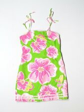 Girl Lilly Pulitzer Maui Punch Green Butterfly Dress Spring Summer Size 7