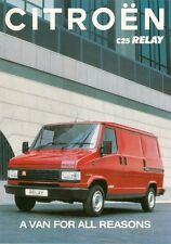 Citroen C25 Relay 1992-93 UK Market Specification Brochure Van Chassis Cab
