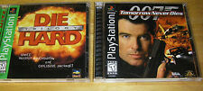 Die Hard Trilogy and 007 Tomorrow Never Dies Playstation Complete