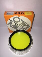 52mm Yellow Y2 Professional Filter Made By Milo In Japan!