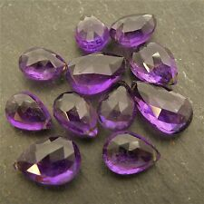 Large Amethyst AA Far Faceted Pear Briolette Focal (per bead) Semi Precious Gem