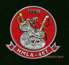 HMLA-467 SABERS PATCH US MARINES HELICOPTER PIN UP MCAS MAW PILOT CREW GIFT WOW