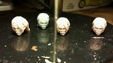 CUSTOM CASTED HEAD ACTION FIGURE ZOMBIE MUTATION FEMALE ORK 4in 1:18 3.75