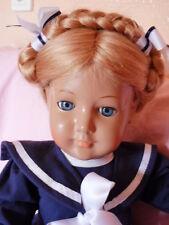 Schildkröt Puppe doll BRIGITTE  Echthaar 46 cm Matrosenkleidchen Repro neu