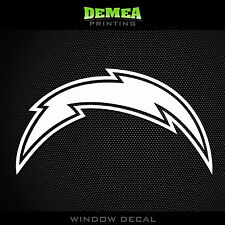 San Diego Chargers NFL -  White Vinyl Sticker Decal 5""