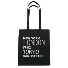 New York, London, Parigi, Tokyo SAN MARINO - Borsa Di Iuta Borsa - Colore: nero