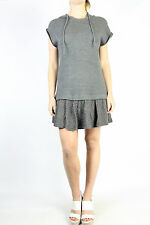 ZARA TRF Grey Hooded Cable Knit Dress Size L (12)