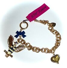 NWT BETSEY JOHNSON *IN THE NAVY* TOGGLE CHARM BRACELET - RARE