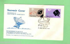 #D125. NEW ZEALAND 1971  POST OFFICE COVER, SATELLITE EARTH STATION