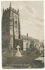 Parish Church, Market Drayton, 1922 postcard