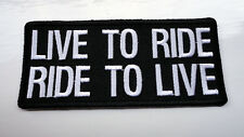 P2 Live To Ride - Ride To Live Iron on Patch Motorcycle Hardcore Biker