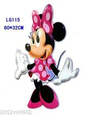 DISNEY MINNIE MOUSE CLUBHOUSE  WALL STICKER ART DECAL ROOM DECOR GIRL PINK
