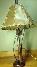 Bow And Arrow Table Lamp Hide Shade Archery Native American Indian Hunting Cabin