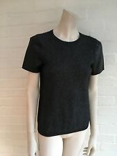 MAJE WOOL BLEND & LEATHER SLEEVES KNIT TOP JUMPER SWEATER SIZE 3 L LARGE