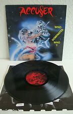 Accu§er / Accuser - Who Dominates Who? | Atom-H 1989 | VG / VG+ | Cleaned Vinyl