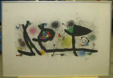 Joan Miro 1974 Original Abstract Lithograph Sculptures III Published by Maeght