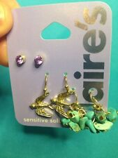 Three Cute Pairs Of Claire's Sensitive Solutions Earrings Studs And Dangling