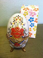RUSSIAN STYLE DECORATED EGG ~ JEWELRY BOX