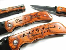 Personalized Engraved Pocket Knife Groomsman Best Man Wedding Gift Contour Grip