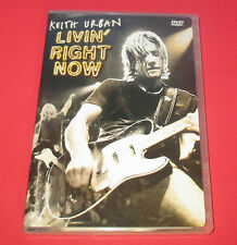 Keith Urban - Livin' Right Now (DVD, 2005)Pop Music, Country, Concerts FREE SHIP