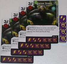 4 X BARON ZEMO HELMUT J. ZEMO 35/142 Age Of Ultron Dice Masters