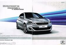 Publicité advertising 2013 (2 pages) Nouvelle Peugeot 308