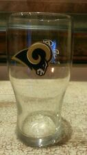 St. Louis Rams Clear Rams Head/Football Drinking Glass Bud Light Game Time