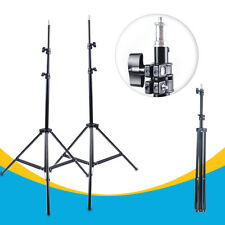"2x 2m/6' 56"" Light Stands Aluminum Foldable Tripod Studio Lighting Video stands"