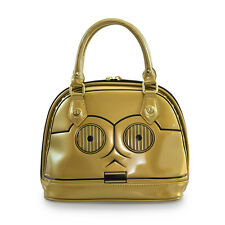 Star Wars C3PO Faux Patent Leather Mini Dome Bag by Loungefly and Disney