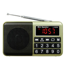 New Portable Digital FM/AM/SW Radio MP3 Multimedia Player w/ USB Charging Cable