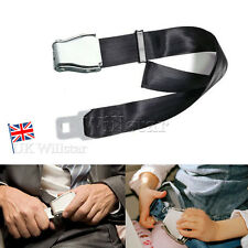 Adjustable Black Seat Belt Extender Buckle Extension Airplane Airline AirCraft