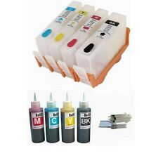 4 Empty Refillable ink kit for HP 564 Photosmart 5510 5511 5512 5514 5515 5520