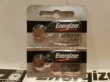 2 x Energizer 371 SR920SW Silver Oxide Watch Battery Made in USA FREE SHIPPING!