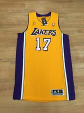 SIGNED JEREMY LIN ADIDAS REV30 LAKERS HOME GOLD PRO CUT JERSEY AUTOGRAPH PE TEAM