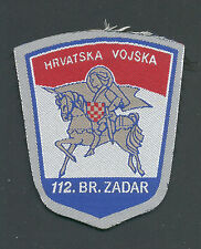 CROATIA ARMY , 112.BRIGADA - ZADAR , patch from 1991 . RARE.