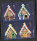 2013 #4817-4820 Gingerbread Houses Block of 4 without Die Cuts